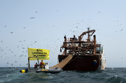 Action against Trawler Willem vd Zwan