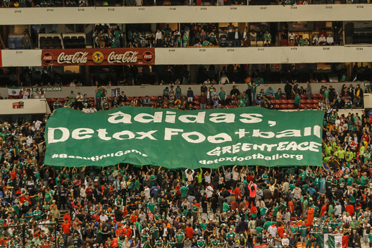 'Detox Football' Protest against Adidas in Mexico