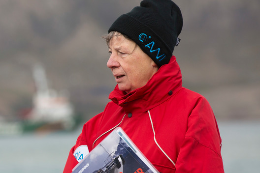 German Environment Minister for Germany, Barbara Hendricks, Onboard the Arctic Sunrise