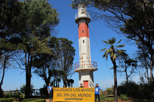 Lighthouse Action in Lota for the Protection of Patagonian Sea
