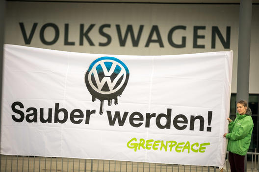 Protest during VW AGM in Berlin