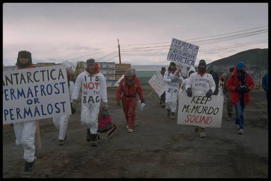 Protest at McMurdo Base against Minerals Exploitation