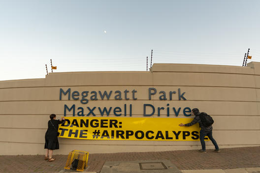 Air Pollution Action at Eskom's Megawatt Park in Johannesburg