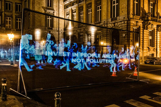 Hologram March in Brussels