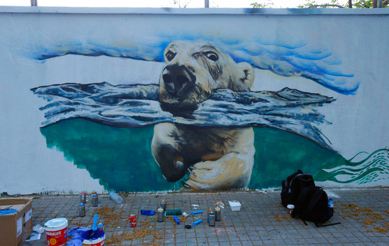 Urban Art for the Arctic in Barcelona