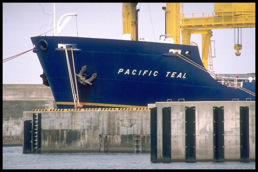 Plutonium Ship PACIFIC TEAL being Loaded at Shika Port