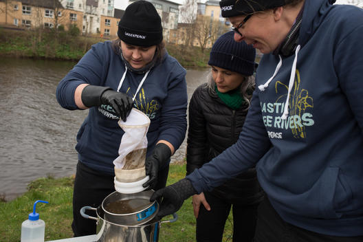 Sediment Testing for Microplastics on River Clyde in Scotland, UK