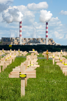 Action at Belchatow Coal Power Plant in Poland