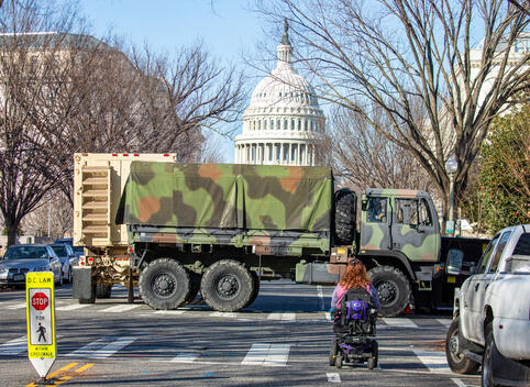 Capitol's Enhanced Security before President's Inauguration in Washington DC