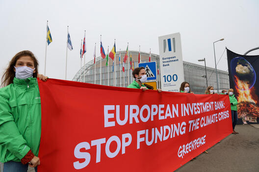 EIB: Stop Funding the Climate Crisis - Activity in Luxembourg