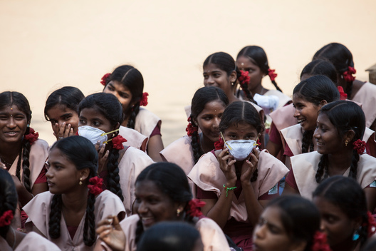 Children from Ennore Corporation School in Tamil Nadu