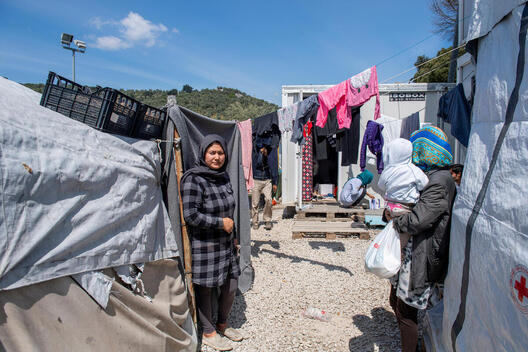 Moira Refugee Camp on Lesbos Island, Greece