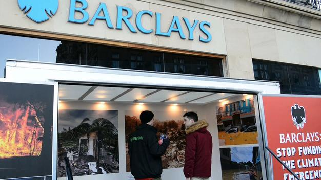 Pop-up Exhibition Blocks Barclays Bank in Edinburgh - News Access