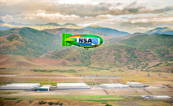 Protest Against NSA with Airship in Utah