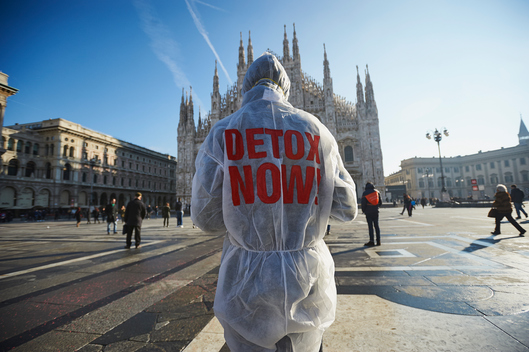 Detox Action at The North Face Store in Milan, Italy