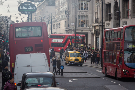 Traffic in Oxford Street London