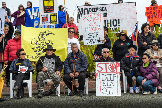 Maori Protest against Statoil in New Zealand
