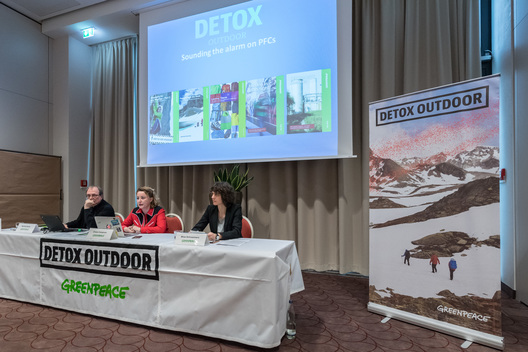 Detox Press Conference at  ISPO Trade Fair in Munich