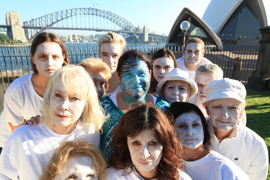 Protest to Save the Reef near Sydney Opera House in Australia