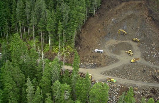 Roadbuilding in the Tongass National Forest