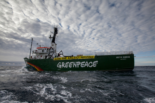 Arctic Sunrise Enters the  Kara Sea