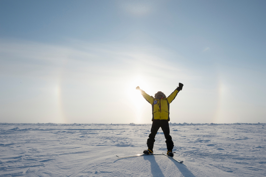 Team Aurora Arrives at the North Pole