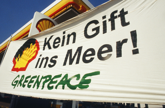 Action against Brent Spar at Shell Stations in Austria