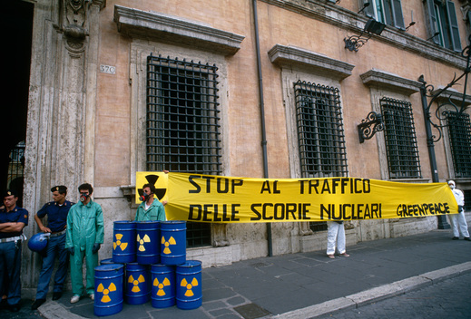 Nuclear Action against Power Plant Thorp in Rome Italy