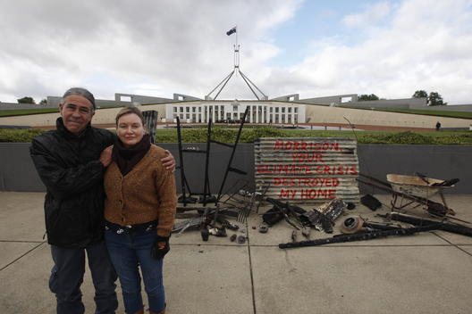 Bushfire Survivors Action at Parliament House in Canberra