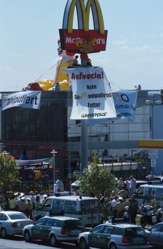 Action Against McDonald's GE Fodder in Germany