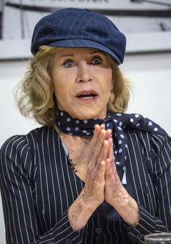Jane Fonda Hosts GND Meeting at Greenpeace USA in Washington D.C.