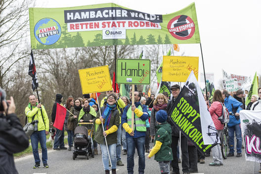 Protest March against Enlargement of RWE Coal Mining in Germany