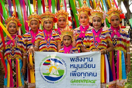 Rainbow Warrior Tour Ceremony in Songkhla