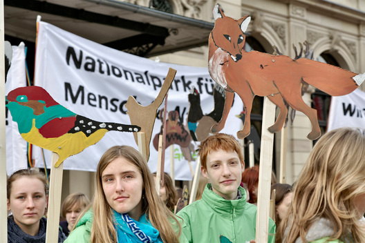 Youth Demonstration for National Park in the Black Forest