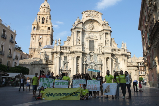 Greenpeace Spain Shows Solidarity with Greenpeace India