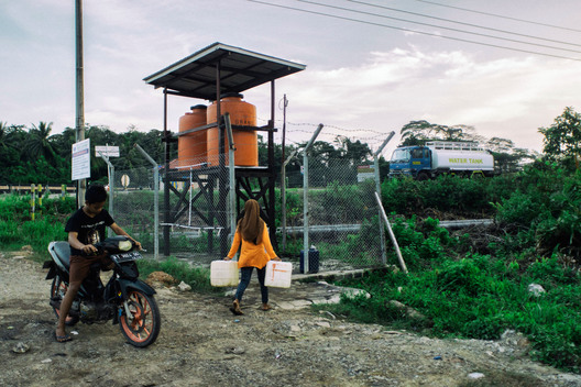 Contaminated Water Tank in Santan Ilir Village in East Kalimantan