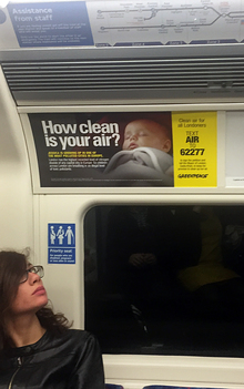 Air Pollution Tube Adverts in London