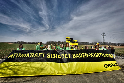 Protest against Nuclear Power Plant Neckarwestheim