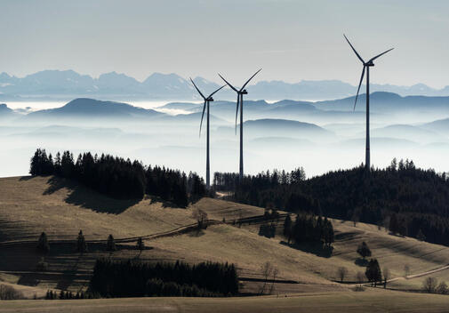 EnBW Glaserkopf Wind Park in the Black Forest