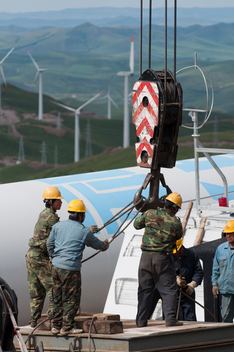 Chicheng Wind Farm in Hebei Province