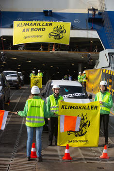 Protest against SUVs in Bremerhaven