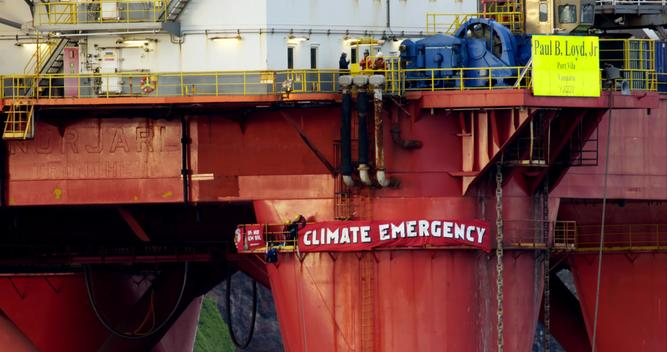 BP Oil Rig Protest in the North Sea - Day 2 evening - New Activists Board the Rig - News Access