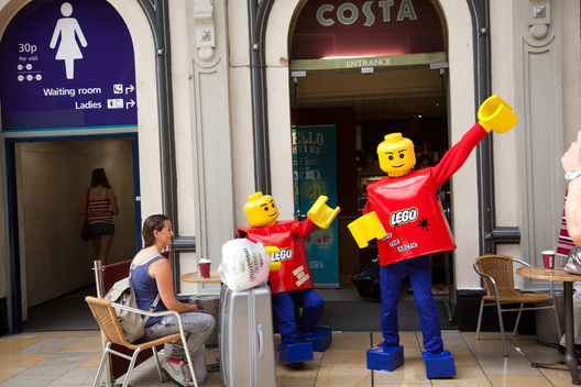 LEGO Figures Try to Deliver Petition at HQ in UK