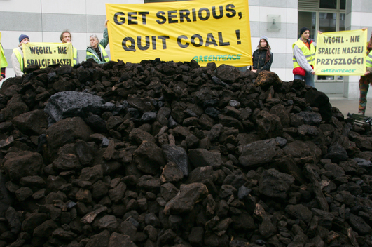 Coal Dumped Outside Hotel in Poland