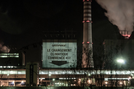 COP19 Projection on Coal Power Station Kozienice