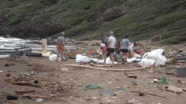 Kanapou Beach Cleanup in Hawaii - Clipreel