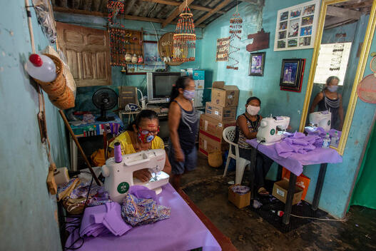 Indigenous Women Manufacture Masks in the Amazon in Brazil