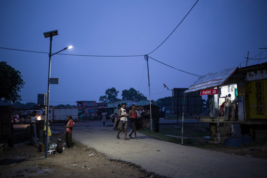 Solar Powered Street Light in Dharnai Village in India