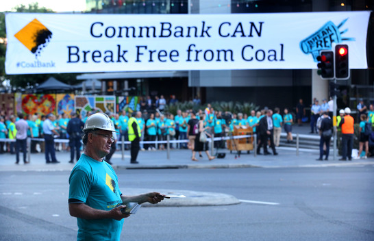 Break Free Action at Commbank in Sydney
