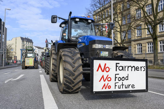 Farmers Demonstration in Hamburg